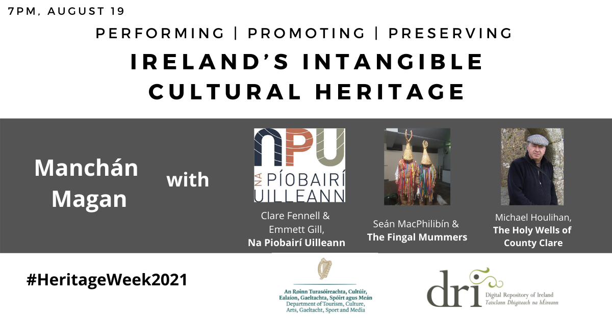 Performing, Promoting, and Preserving Ireland's Intangible Cultural Heritage banner